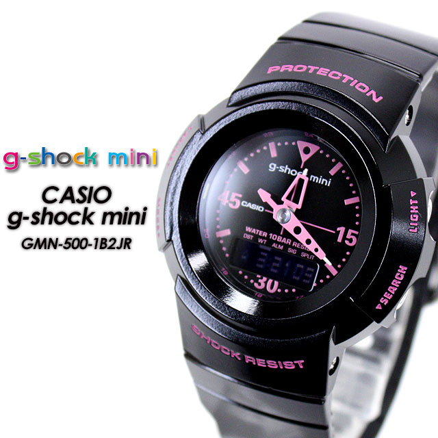 5ea95a777180 domestic genuine ☆ g-shock mini GMN-50-1B2JR Black x Pink ladies Womens watch  CASIO g-shock g-shock G shock