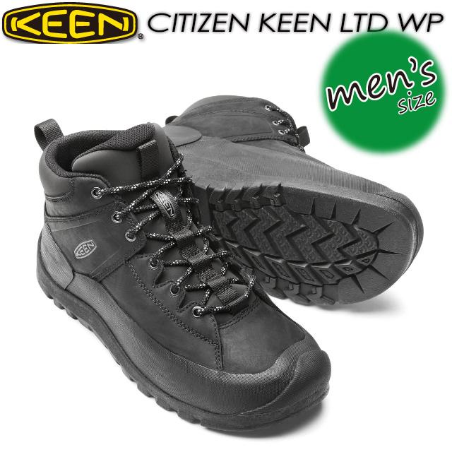 キーン【KEEN】シティズン キーン リミテッド ウォータープルーフ【CITIZEN KEEN LTD WP】 男性用 メンズ / ハイキング / アウトドアシューズ 1015140 Black