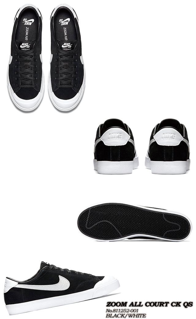 super popular b14fb 2d67f ... Nike SB ZOOM ALL COURT CK QS Cory Kennedy zoom Orr coat 811252-001  BLACK WHITE