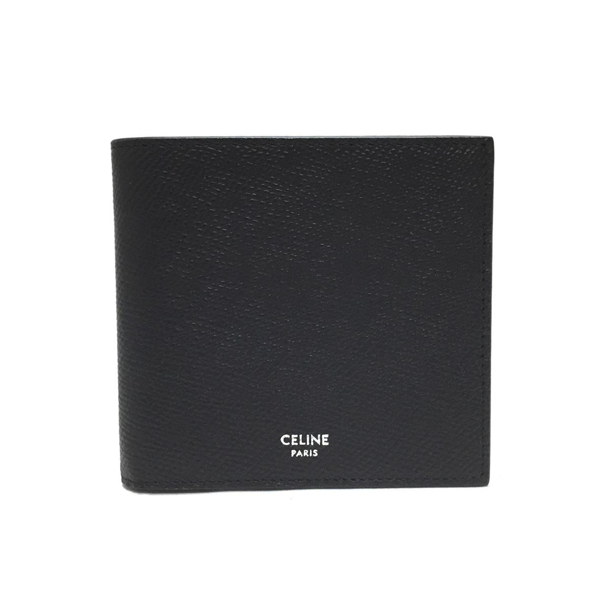 【新品・送料無料】 CELINE セリーヌ メンズ 折り財布 10B653BEN.38SI ブラック