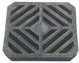 安全 安定性 耐久性にすぐれた激安グレーチング 複合樹脂製 格子蓋 公式ショップ 黒色 240mm 歩道用 HRK-240 代引き不可 適用荷重:歩道用 倉 適用ます幅