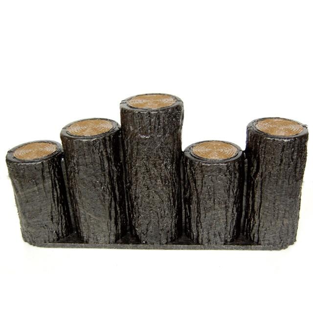 お庭を華やかに演出いたします お庭の縁取りや花壇周りなどに軽くて扱い易い樹脂製擬木はなえ80φ 5連段違いタイプ H300 直営ストア 予約販売