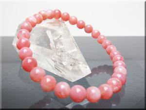 高級ピンクオパール6mm珠 ブレスレット