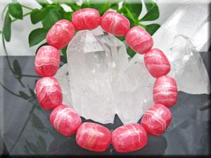 柔らかなピンク色でうっすらと白い縞が可愛い逸品です 6Aグレード たる型 新作アイテム毎日更新 約16cm マーケット 最高級インカローズ 9mm珠ブレスレット