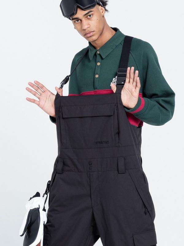 NBCM19RP Black NOBADAY NBD WORK BIB PANTS NOBADAY 日本未入荷 未販売 国内唯一の取扱店 ウェア パンツ ビブパン スノーボード スウェット アパレル