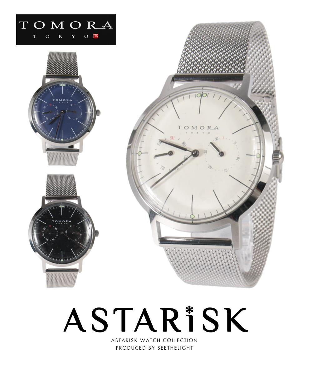 日本製 マルチカレンダー クォーツ メッシュ 腕時計 TOMORA トモラ メンズ 男性 プレゼント
