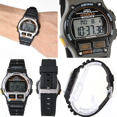 acd481780048a TIMEX Timex Reprint Edition IRONMAN 8LAP iron man 8 lap digital sports  running watch memory men men ladies women T5H941 T5H961