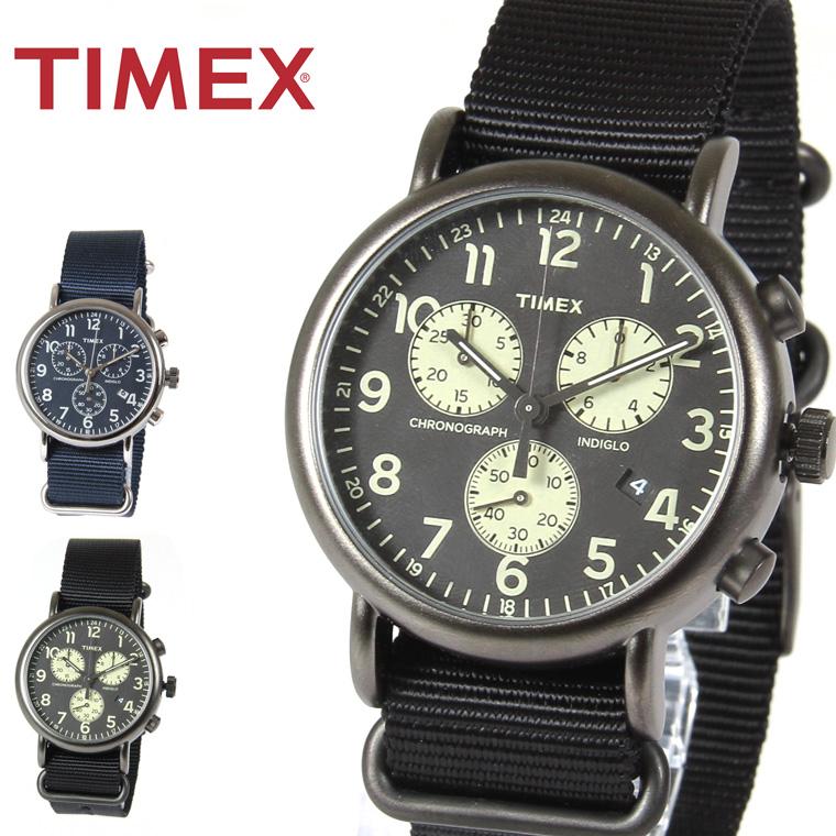 ウィークエンダー Weekender クロノグラフ 腕時計 インディグロナイトライト カレンダー ギフト プレゼントTIMEX タイメックス