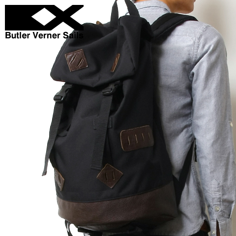 【リュック バッグ 鞄】日本製コーデュラポリエステル×本革レザー フラップ バックパック リュック メンズ レディース ユニセックス Butler Verner Sails バトラーバーナーセイルズ, ホビープラザ とらや:ed5b8dc9 --- asc.ai