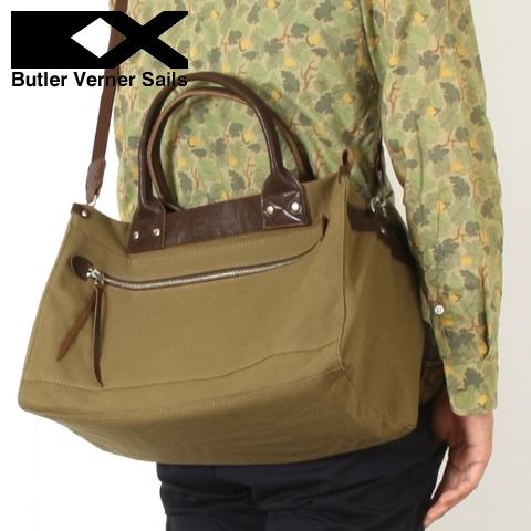 【ショルダーバッグ ボストンバッグ 鞄】日本製 パラフィン スクエア ショルダー ボストン バッグButlerVernerSails バトラーバーナーセイルズ