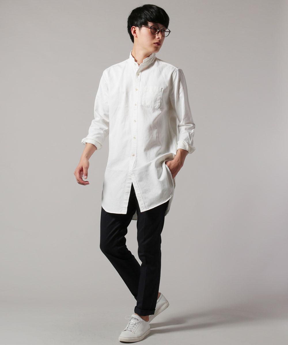 メンズ ロングシャツ メンズファッション ツイル ローマ シャツ UPSCAPE AUDIENCE オーディエンス  日本製|Sputnicks(スプートニクス)