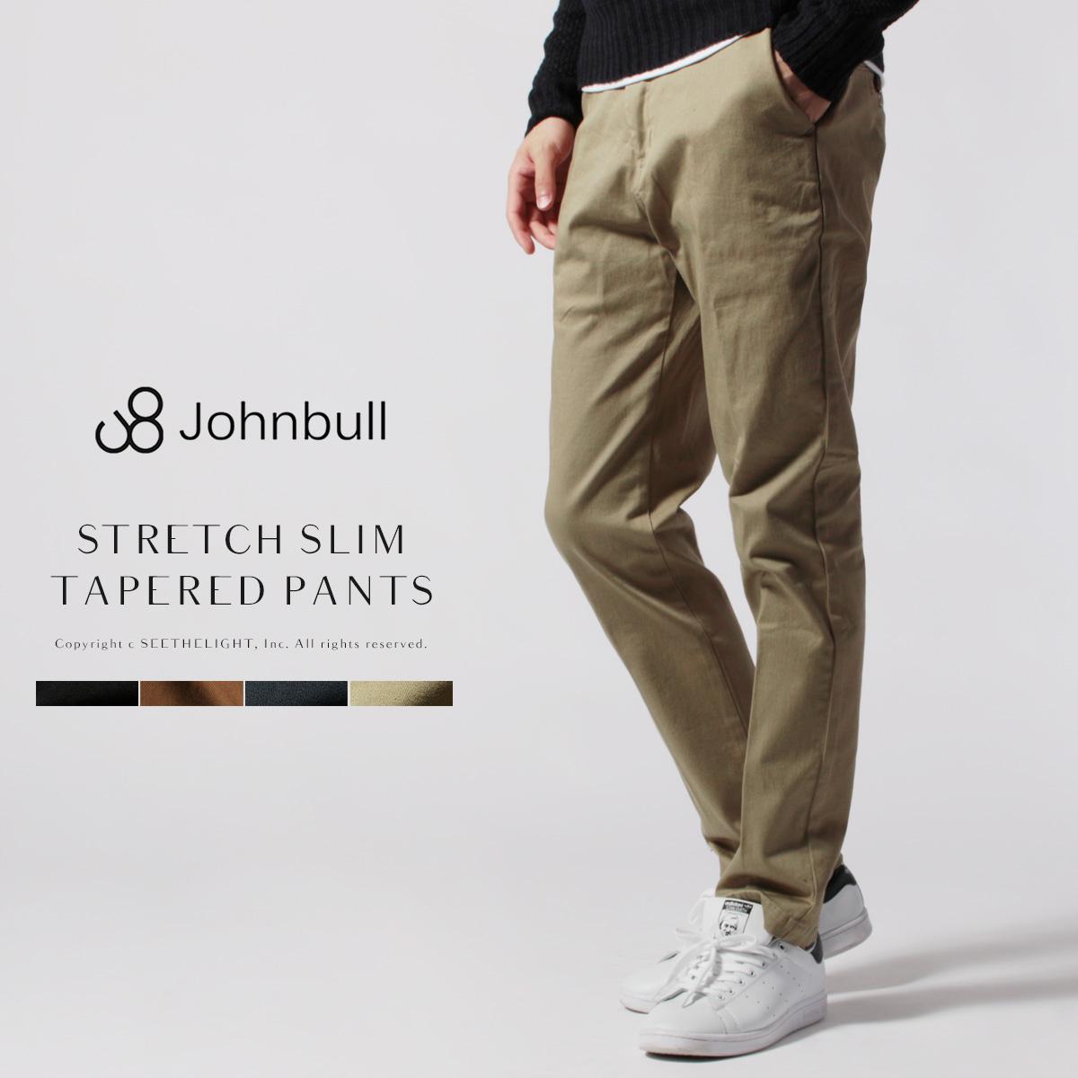 Johnbull ジョンブル チノパン メンズ ハイパー ストレッチモア スリム テーパード スリムテーパード パンツ 21238トラウザー スラックス 日本製