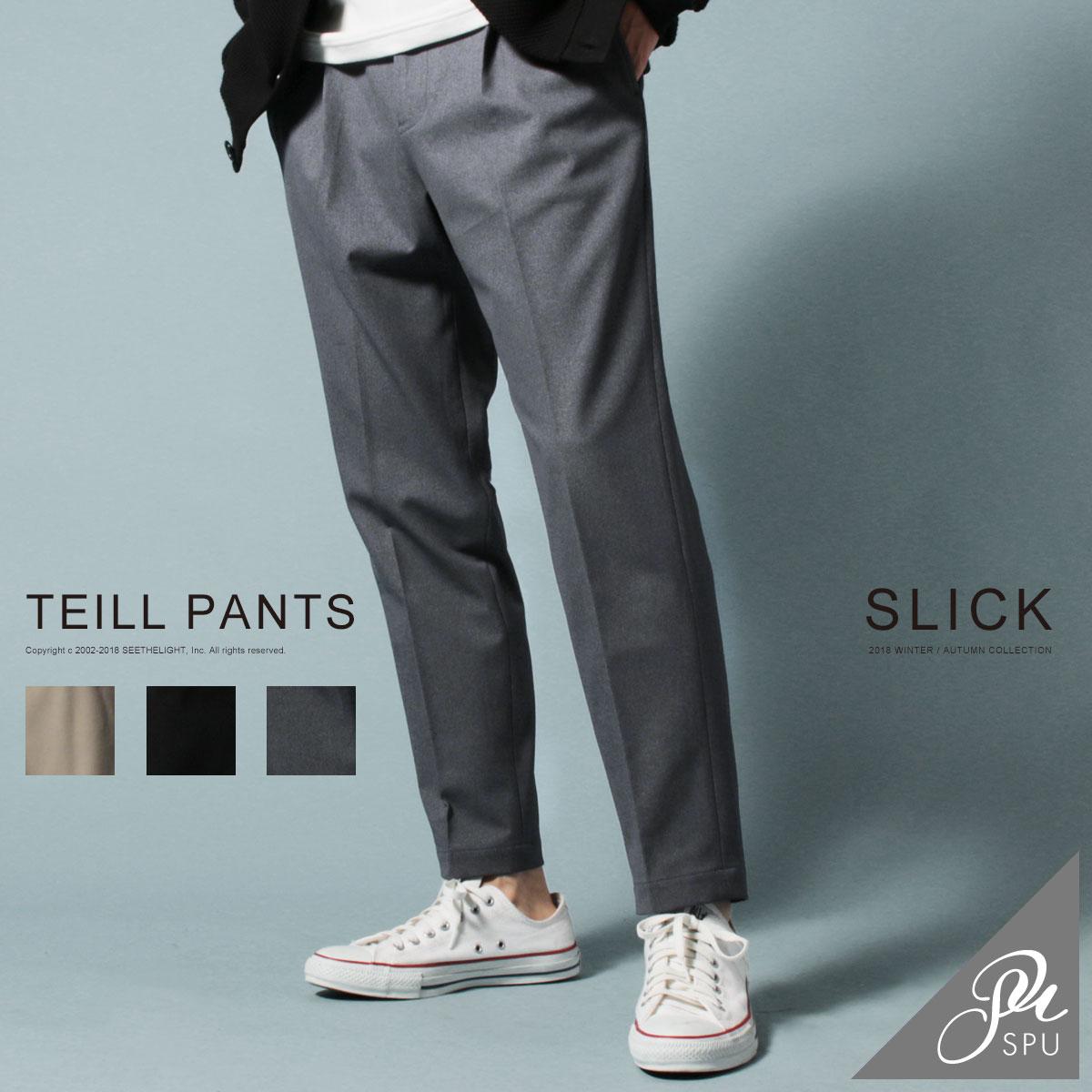 トラウザーパンツ メンズ パンツ 春 夏 Primeflex ストレッチ ツイル スリム トラウザーパンツ スラックス SLICK スリック 5155402