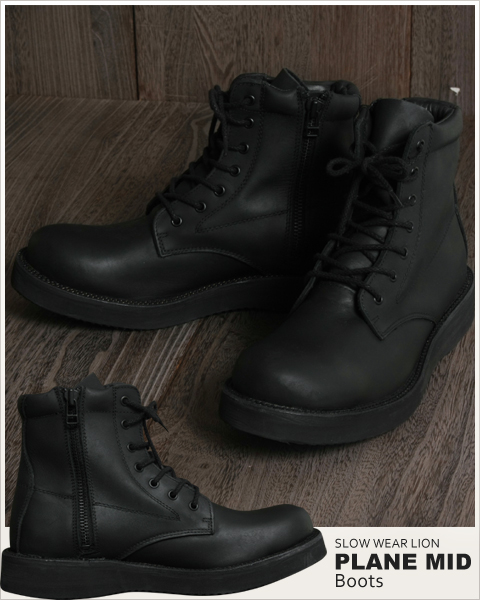 spu | Rakuten Global Market: All black plain mid boots mens men ...