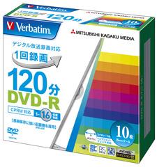 Verbatim 授与 DVD-R Video with CPRM VHR12JP10V1 120分 透明 1-16倍速 4991348064242 10P メーカー在庫限りVerbatim 1枚5mmケース ファクトリーアウトレット