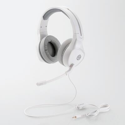 通販 エレコムゲーミングヘッドセット 両耳オーバーヘッド 全商品オープニング価格 4極ミニプラグ 50mmドライバ 極厚イヤーパッド ホワイトHS-G01WH 4953103356191 コントローラ付属 メーカー在庫限り