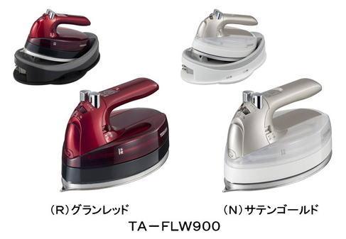 メーカー在庫限り東芝(TOSHIBA)コードレススチームアイロンTA-FLW900(R) グランレッド 4904550967683 TA-FLW900(N) サテンゴールド 4904550967690