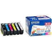 エプソンIC6CL70 カラリオプリンター用インクカートリッジ 6色パック 通販 メーカー在庫限り 割り引き 4988617143609