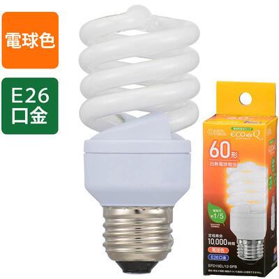エコ電球 60形相当 810lm 電球色 E26 EFD15EL 在庫処分 高価値 12-SPB 4971275637726 06-3772 メーカー在庫限り