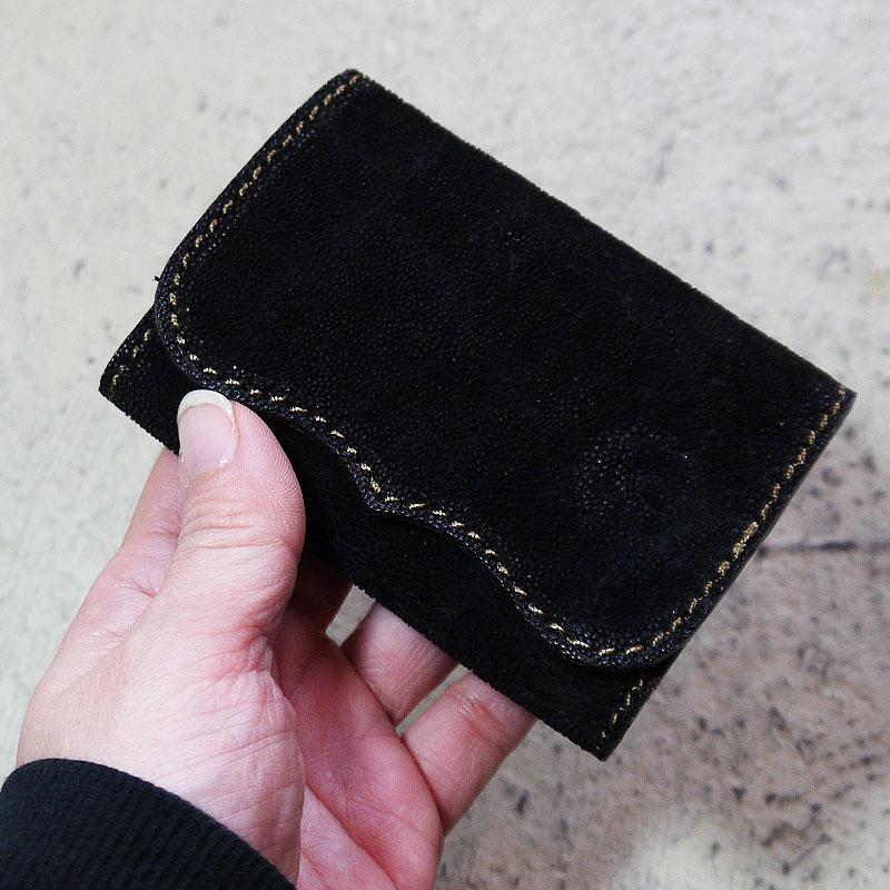 【写真実物です】KC,s 象革カードケース 象革財布 メンズ レディース 財布 サイフ エレファント 高級 エキゾチックレザー ウォレット 名刺入れ 小銭入れ 本革 ケイシイズ ケーシーズ SALE アウトレット 送料無料