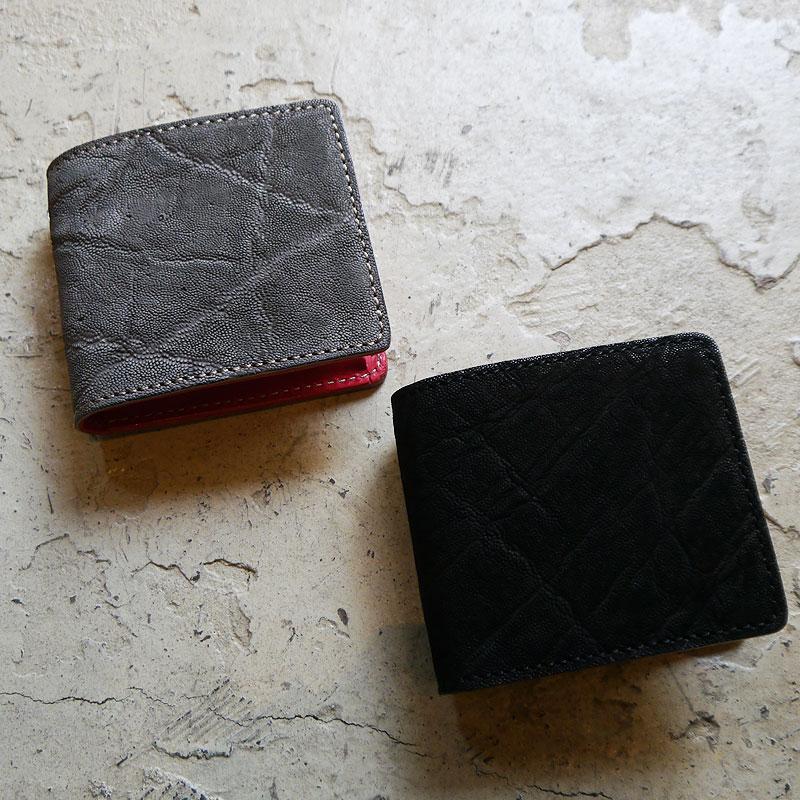 【写真実物です】KC,s 象革財布 二つ折り財布 メンズ レディース 財布 サイフ エレファント 高級 エキゾチックレザー ウォレット 二つ折り 札入れ 小銭入れ 赤 レッド 本革 ケイシイズ ケーシーズ コンパクト 財布 ミニ財布 送料無料