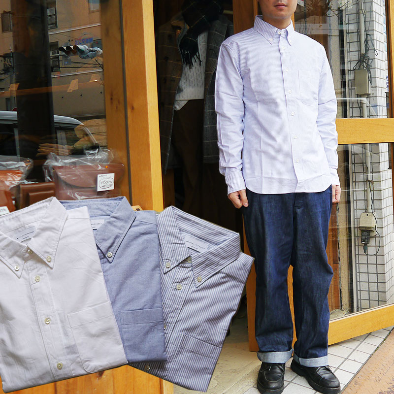 マニュアルアルファベット オックスフォードシャツ 長袖シャツ メンズ Manual Alphabet シャツ 無地 ボタンダウンシャツ 白 ホワイト カジュアル キレイ目 日本製 MADE IN JAPAN 定番 人気商品 1(S) 2(M) 3(L)4(XL)サイズ ブランド 人気 st-001