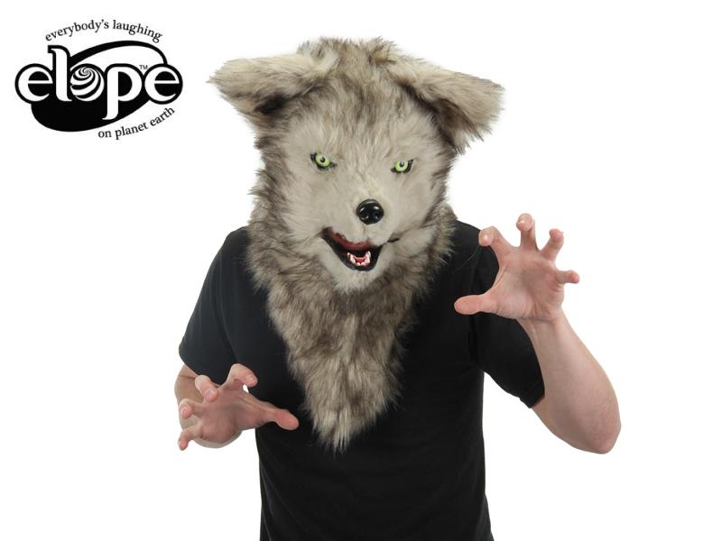 ☆口が動く!ELOPE【イロープ】Mouth Mover Wolf Mask ウルフ 狼 おおかみ [犬 マスク 帽子 コスプレ 誕生日 イベント お祝い 宴会 面白い 珍しい 衣装 子供 ファーリー]13926 イースター 10P26Mar16