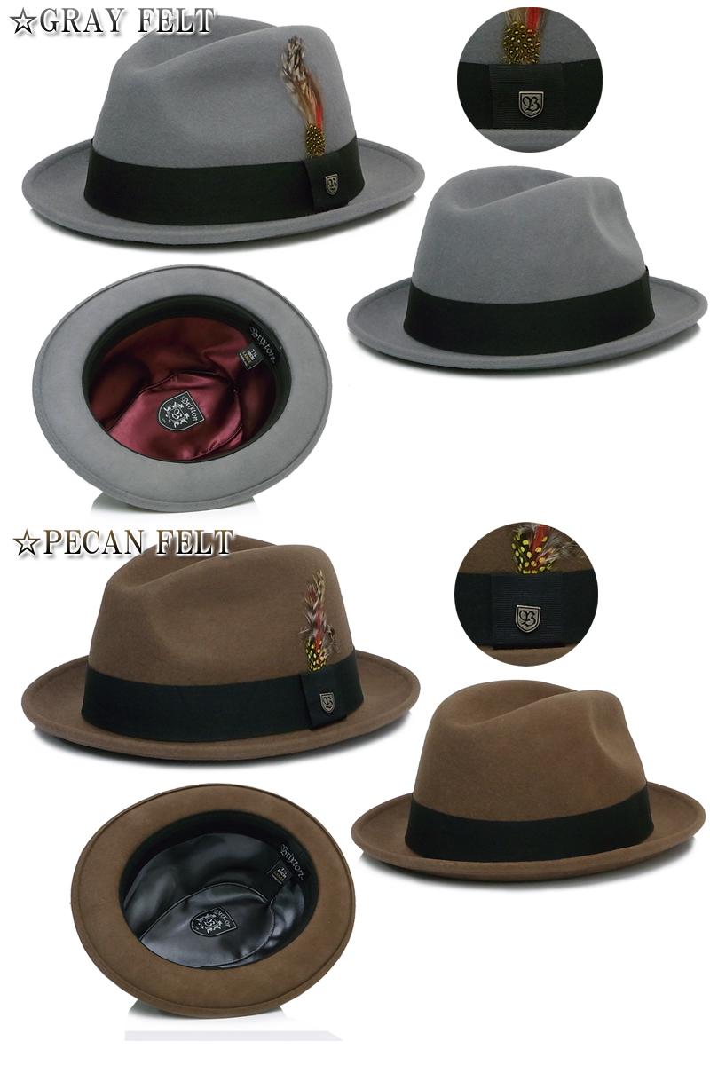 ☆ 布里克斯顿 [布里克斯顿,琼斯觉得帽子琼斯觉得帽子 Hanetsuki 优雅灰色棕色 7837