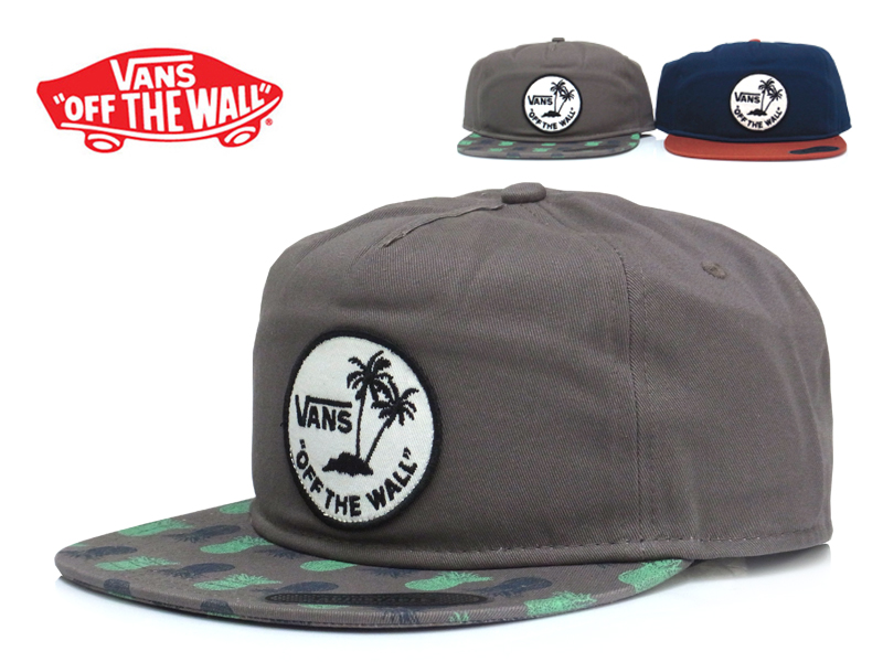 Founder Paul Van Doren model! It s a snap back cap of the VANS. Is a circle  with logo and palm trees in the front offers VANS seems to be a  characteristic ... 317725526fc5