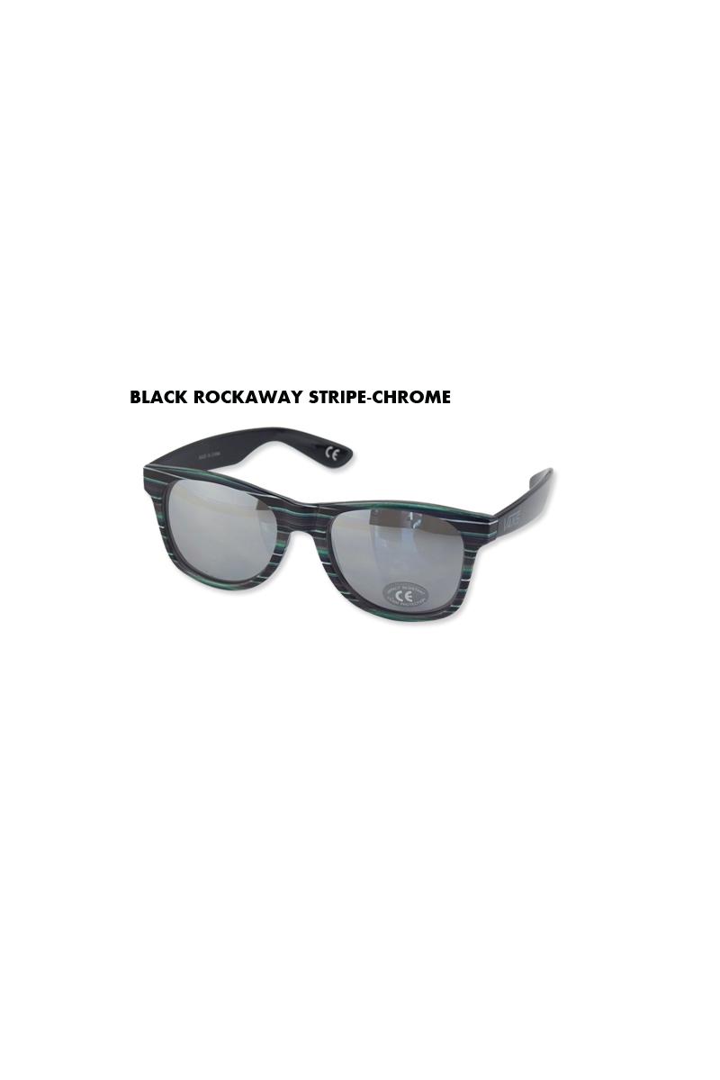 e0962f7f3e ☆VANS バンズ SPICOLI 4 SHADES BLACK ROCKAWAY STRIPE-CHROME スピコリフォーシェードス サングラス  ストライプクローム 11458 13210 UVカット 10P26Mar16