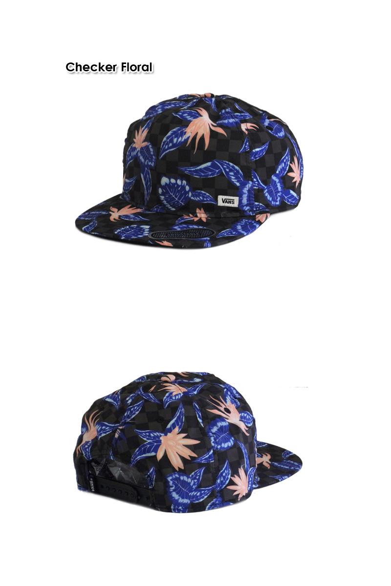 3e1bd44b ... VANSOVERALL SNAPBACK CAP Checker Floral overalls Checker floral Snapback  13241 [floral BB CAP SKATE