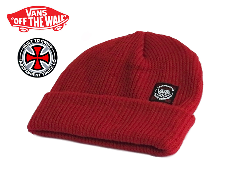 a07f8e2d ☆VANSVANS X INDEPENDENT INDY BEANIE INDY RES independence beanie indie red  12906 [knit hat knit knit cap SKATE SK8 skateboard station wagons in the  fall ...