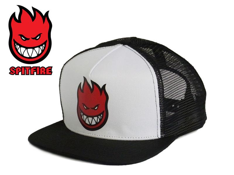 SPITFIRE2015 BIGHEAD FILL TRUCKER CAP WHITE BLACK big head fill cap white    black 13 b2dc753eab3