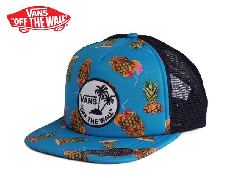 f1fdc40ce ☆ VANSSURF PATCH TRUCKER CAP Drained &Confused surf patch mesh Cap  pineapple 13242 [tropical BB CAP SKATE SK8 skateboard snap back vans,  10P26Mar16