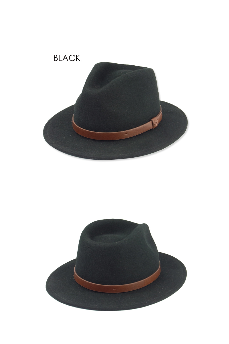 BRIXTON ブリクストン MESSER FELT HAT BLACK メッサー中折れフェルトハット ブラック 14099スケーター10P05Dec15l1Tc5FJuK3