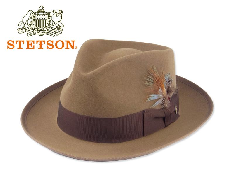 STETSON【ステットソン】 WHIPPET HAT TAWNY ファーフエルト中折れハット ウィペット ブラウン系 15172 [メンズ レディース 高級ハット]