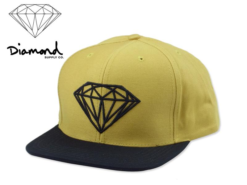 STREAM  Brilliant DIAMOND SUPPLY Brilliant Snapback KHAKI DARK NAVY ... e8d95ad5d726