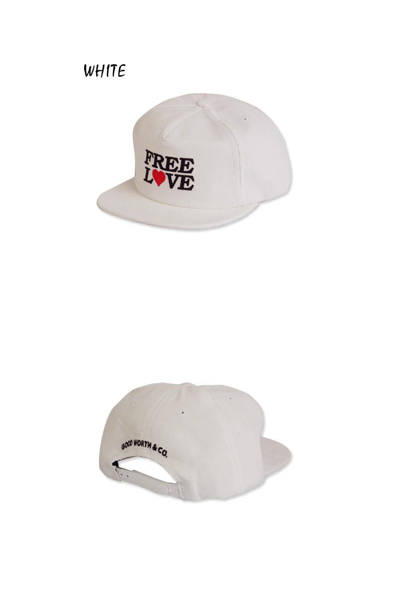 GOOD WORTHグッドワース FREE LOVE SNAPBACK CAP WHITE フリーラブ ホワイト スナップバック 13852 10P05Dec152015 メンズ レディース 10P19Dec15w0OPnk