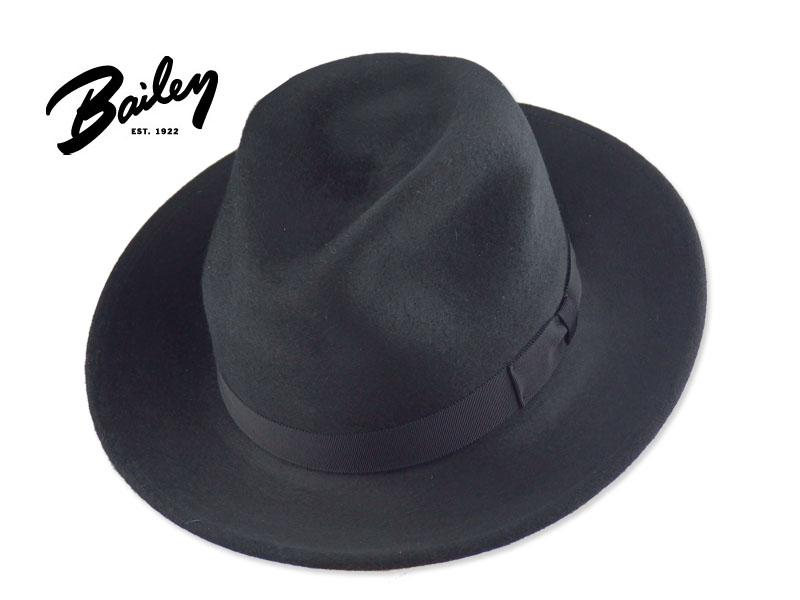 ☆BAILEY【ベイリー】7001BH CRISS FELT HAT BLACK フエルト ハット ブラック 16090【送料無料】 10P03Sep16