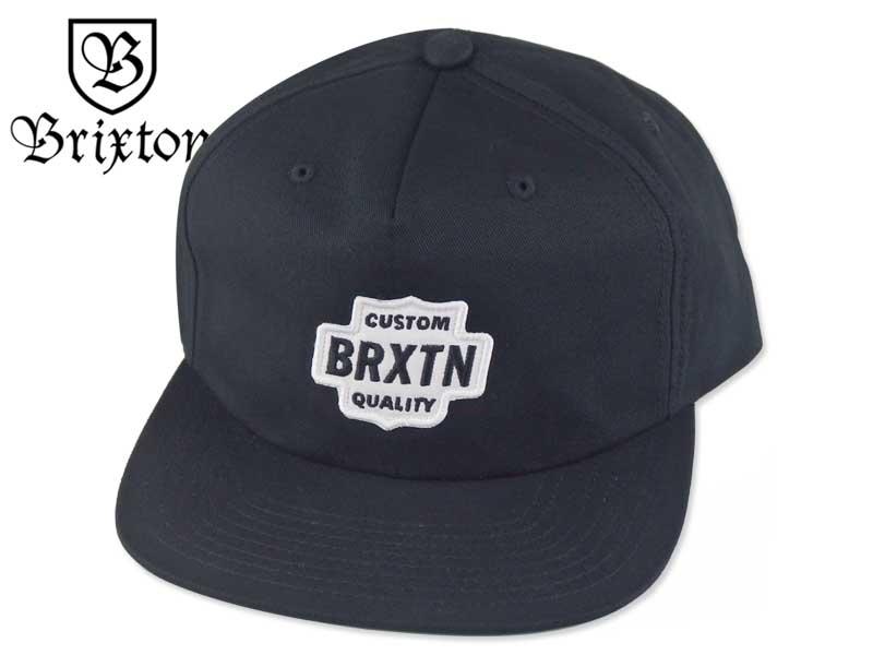 ☆BRIXTON 【ブリクストン】GARTH 5PANEL SNAPBACK BLACK 5パネル スナップバック ブラック 16803 [メンズ レディース スナップバック スケボー スケーター]P23Jan16