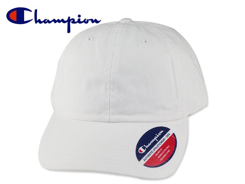 30e615c184f9f CHAMPION チャンピオン Washed Twill Dad Cap CS4000 White 6パネルコットンキャップ ホワイト 16876   無地 シンプル メンズ レディース