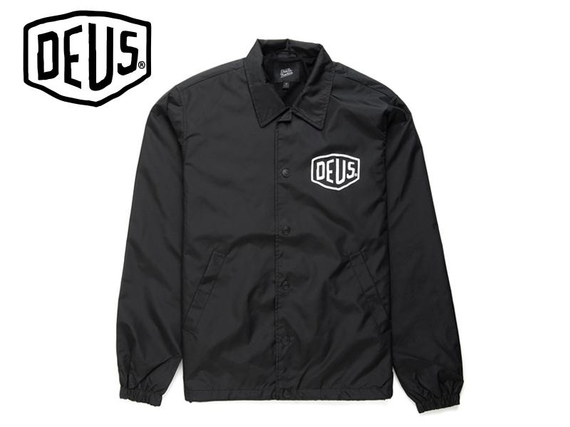 DEUS EX MACHIN【デウス エクスマキナ】 Venice Coach Jacket Black ベニス コーチジャケット ブラック 17029 [サーフィン メンズ レディース]10P19Dec15