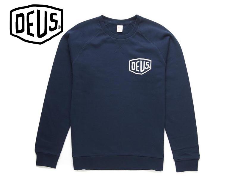 DEUS EX MACHIN【デウス エクスマキナ】VENICE Crew Sweater Navy ヴェニス スエット ネイビー 17031 [サーフィン メンズ レディース]10P19Dec15