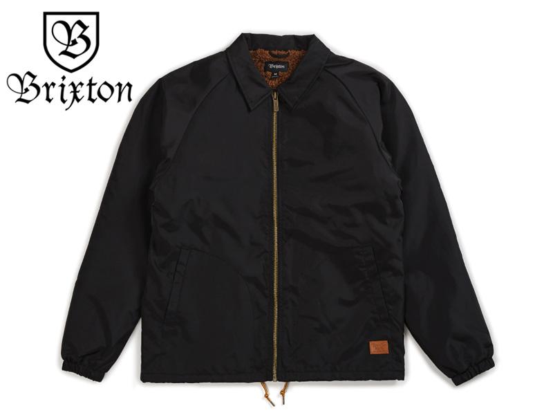 ☆BRIXTON【ブリクストン】 CLAXTON COLLAR SHERPA JACKET BLACK コーチジャケット ブラック 17243[SKATE スケボー] 【送料無料】【裏地ボア仕様】