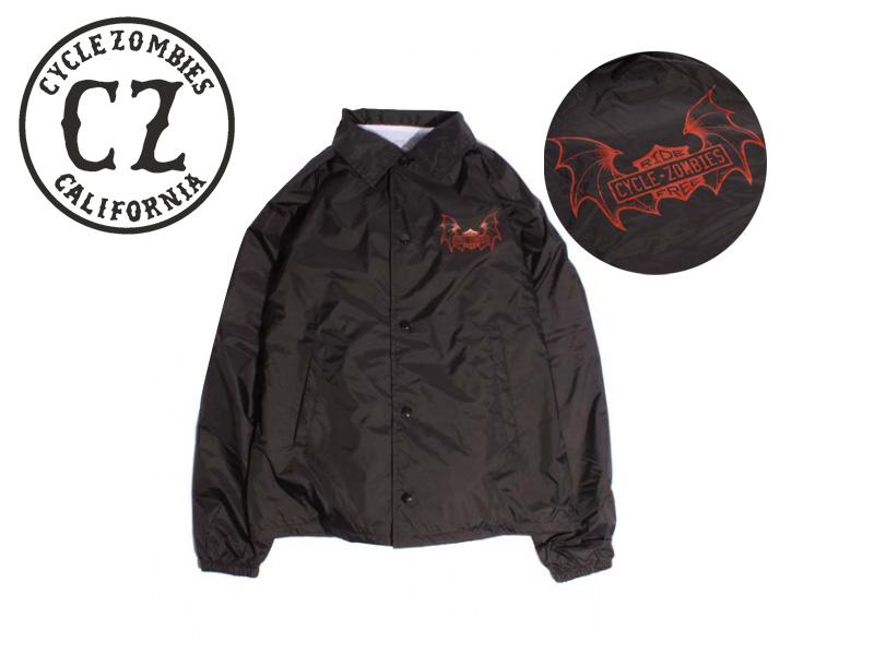 送料無料 ☆CYCLE ZOMBIES サイクルゾンビーズ RIDE FREE Coaches 激安セール Jacket BLACK メンズ ブラック バイカー 10P05Sep15 レディース コーチジャケット 格安 価格でご提供いたします 17257
