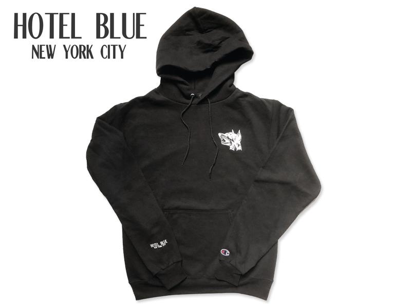 送料無料 ☆HOTEL BLUE お見舞い 数量は多 ホテルブルー GUARD DOG HOODY BLACK 17385 レディース メンズ フーディー パーカー ブラック SKATE