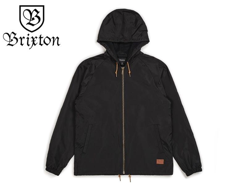 ☆BRIXTON【ブリクストン】CLAXTON COLLAR HOOD JACKET BLACK フードコーチジャケット ブラック 17404 [SKATE スケボー] 【送料無料】