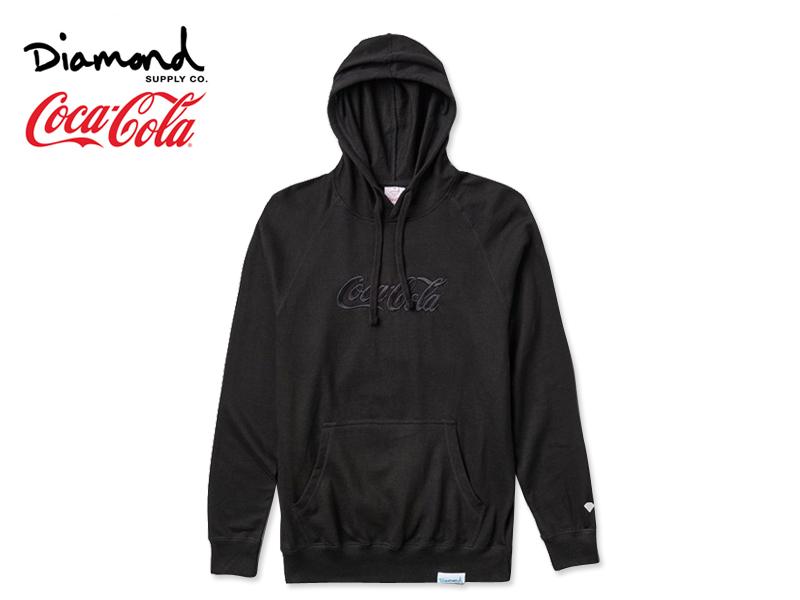 ☆DIAMOND SUPPLY×Coca-Cola【ダイアモンド サプライ×コカ・コーラ】PHOTO HOODIE BLACK フォト フーディー ブラック 17521 [メンズ レディース]