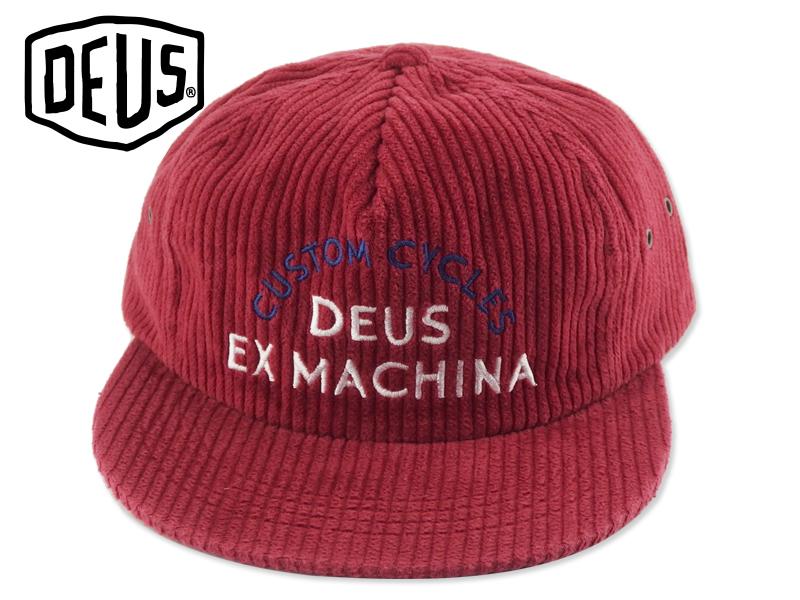 DEUS EX MACHIN【デウス エクスマキナ】ALLEN CORD CAP RED コーディロイキャップ レッド 18073 [2019 サーフィン メンズ レディース]