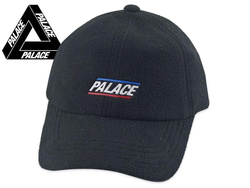 ☆PALACE【パレス】FLEECEY 6-PANEL CAP BLACK フリース 6パネルキャップ ブラック 18403[SNEEZE SUPREME メンズ レディース]